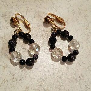 Hand-made Clip On Bead Earrings